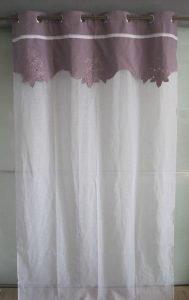 sheer fabric aubergine ruffles 189x300
