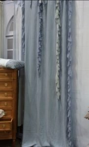 sheer of fabric with ruffles 181x300