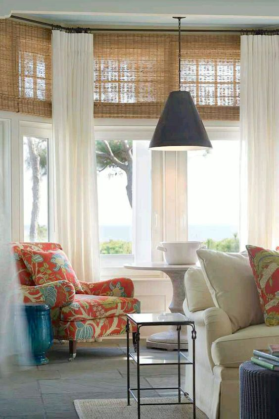 woven shade window dressing