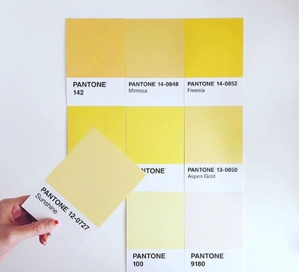 yellow color pantone